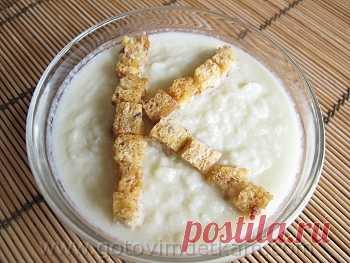 Детская кухня: Суп-пюре с сухариками