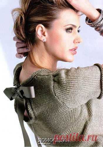 Пуловер с короткими рукавами | ДОМОСЕДКА
