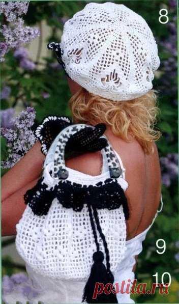 Женские штучки :) берет и сумка крючком