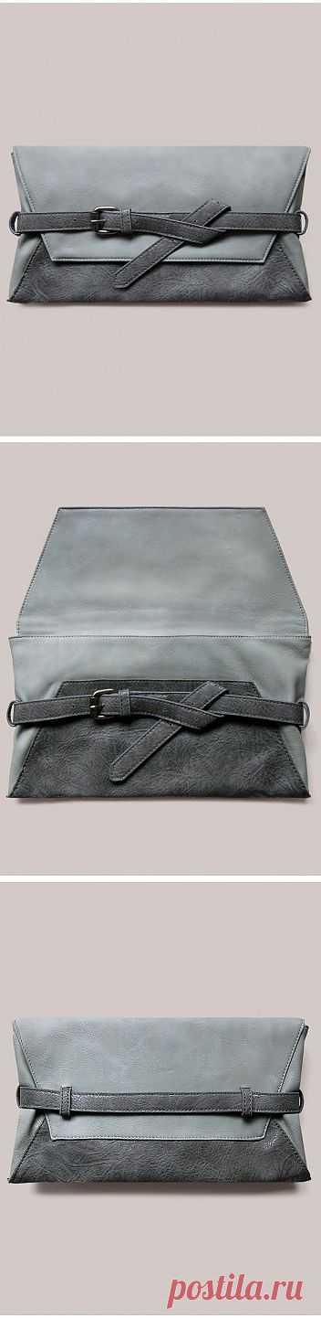 Несложный двухцветный клатч / Сумки, клатчи, чемоданы / Модный сайт о стильной переделке одежды и интерьера