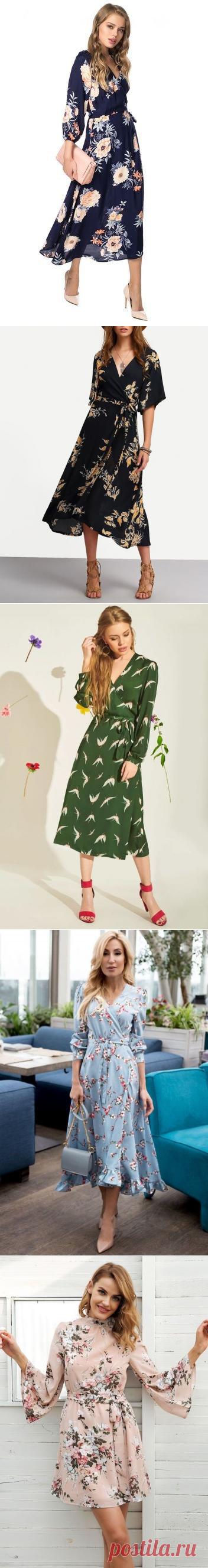 Женственные платья с принтом — Модно / Nemodno