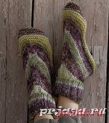 Простые носки спицами для новичков