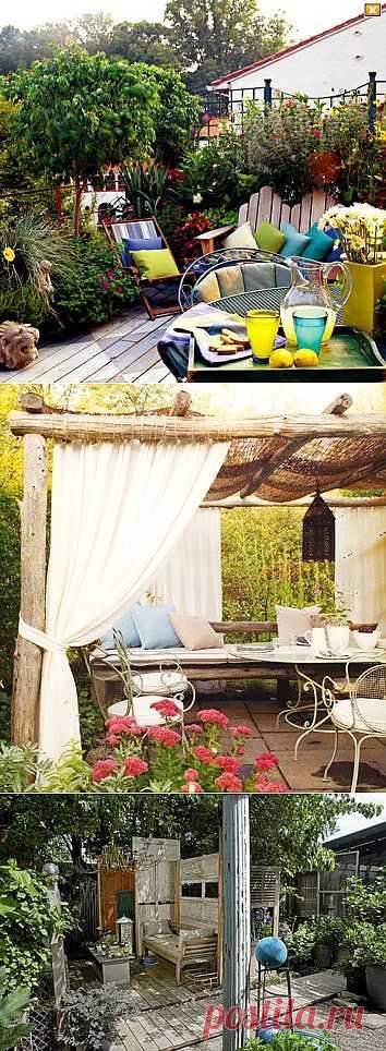 «Наружная гостиная» – дизайн террасы, подборка