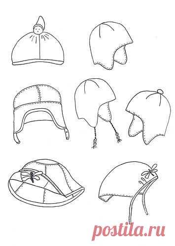 Выкройки детских шапок из Оттобре