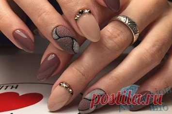 ногти дизайн зима 7