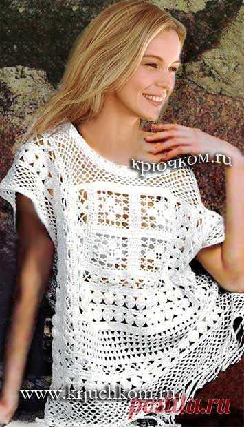 вязание крючком модной кофточки для женщин на лето 2017 года