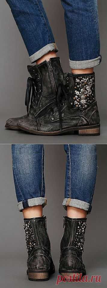 Декор ботинок клепками / Обувь / Модный сайт о стильной переделке одежды и интерьера