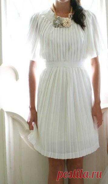 Из макси-юбки - в платье