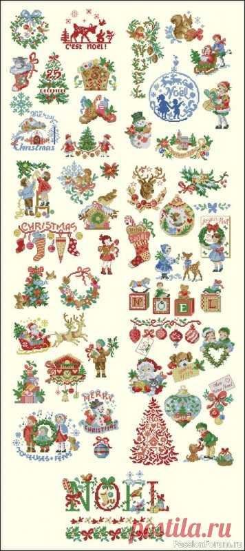 Новогоднее | Схемы вышивки крестом, вышивка крестиком