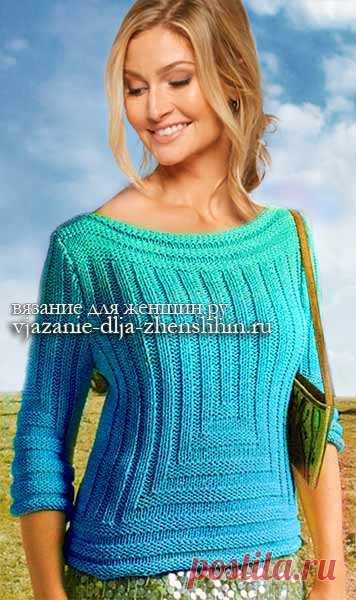 модное вязание для женщин 2018 джемпер спицами с описанием и схемами