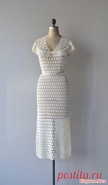 помогите с узором винтажного платья - Все в ажуре... (вязание крючком) - Страна Мам