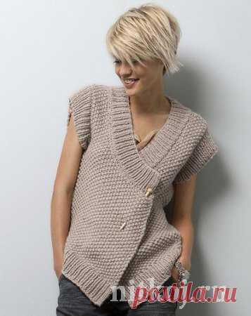 Жакет – жилет спицами » Ниткой - вязаные вещи для вашего дома, вязание крючком, вязание спицами, схемы вязания