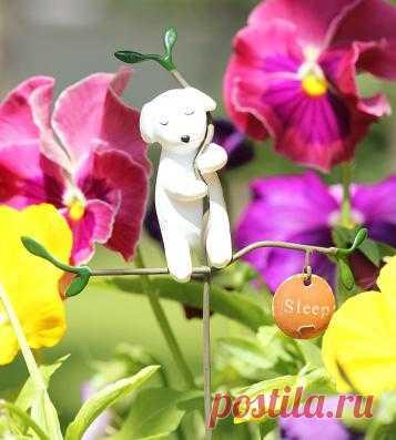 Милое украшение для цветочных горшочков и клумбочек от PichShop.ru
