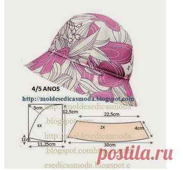 Три оригинальные выкройки летних шляпок! Отличный вариант для отдыха…