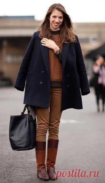 Модный вопрос  можно ли заправлять брюки в сапоги    Журнал Cosmopolitan fc2d367aee4