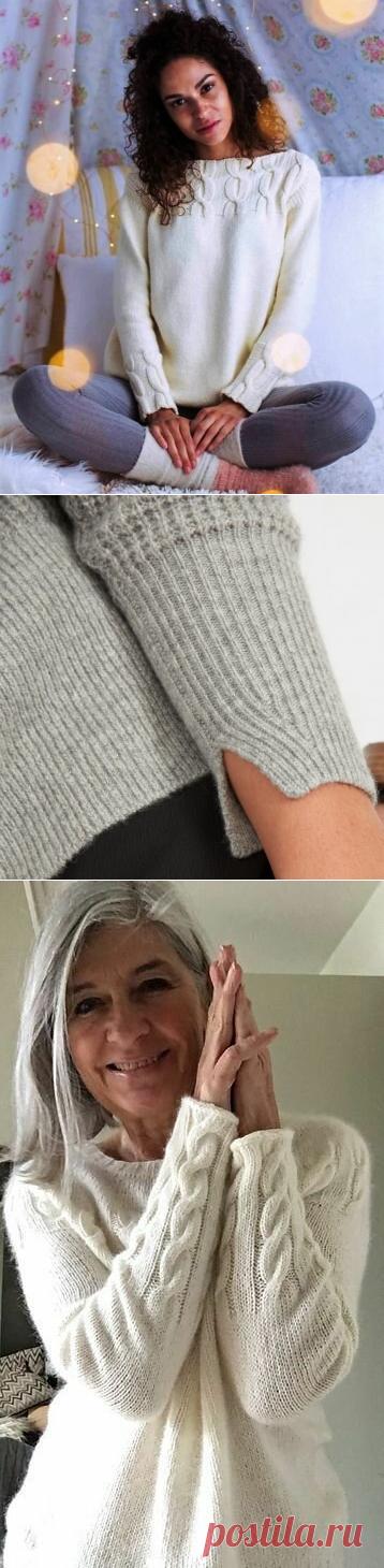 Оригинальные идеи оформления манжет и низа изделий. Вязание спицами. | Марусино рукоделие | Яндекс Дзен