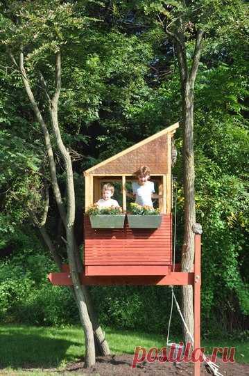 Мечта детворы - домики на дереве! Идея смастерить нечто подобное на даче!