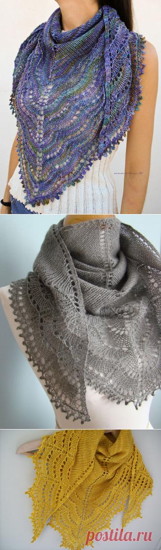 Шаль Холден (из интернета) | Вязание для женщин спицами. Схемы вязания спицами