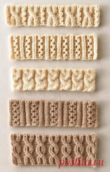 Вяжем по японским схемам. 5 необычных и очень красивых резинок 2*2 спицами. | Вязалкина | Яндекс Дзен