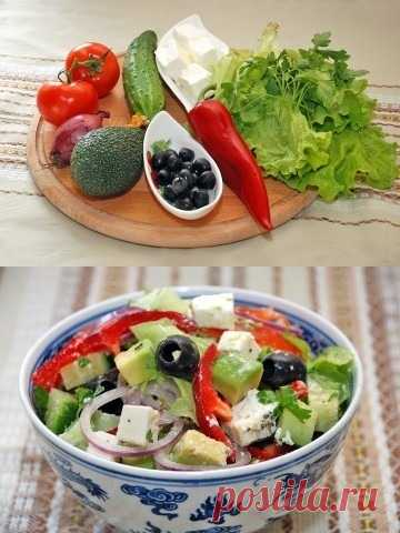 Салат с авокадо исключительно сочетается практически со всеми мясными и рыбными блюдами