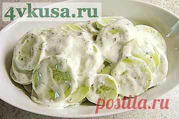 Хрустящий огуречный салат   4vkusa.ru