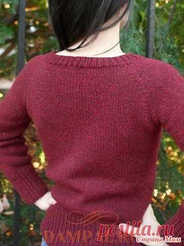 Пуловер реглан «Brick» спицами - Вязание - Страна Мам