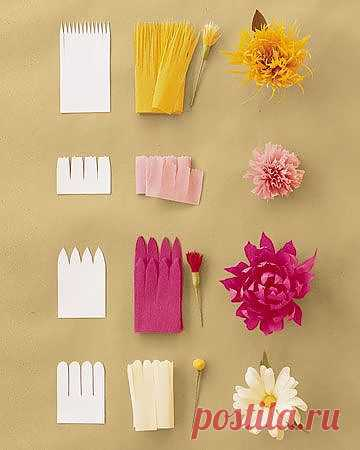 бумажные цветы | Craftsy искусств