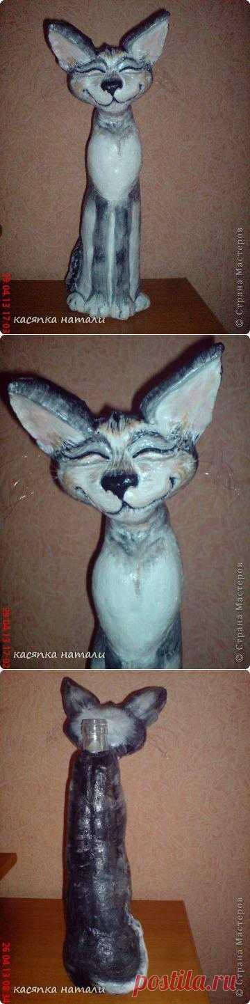 Восточный кот (статуэтка-ваза из бутылки). Уж очень мне понравился этот кот-ваза-статуэтка))))
