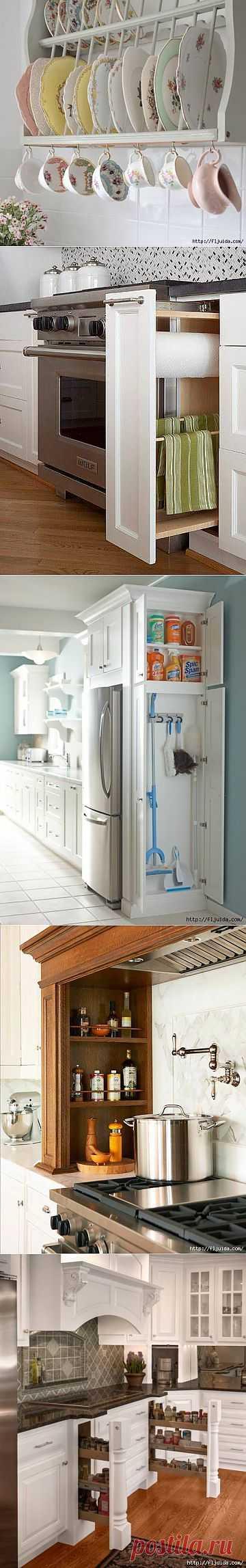 Удобное хранение на кухне. Много идей. | Наш уютный дом