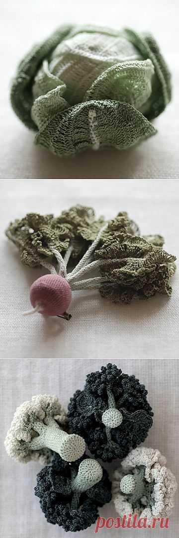 Шикарные вязаные овощи..