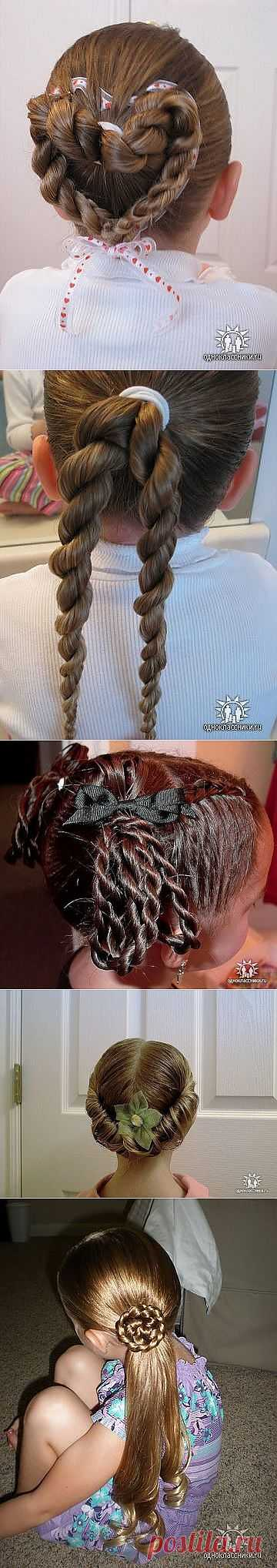 Королевские причёски для девочек (подробные фото-инструкции).