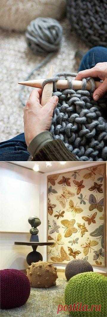 Вязание в…интерьере.