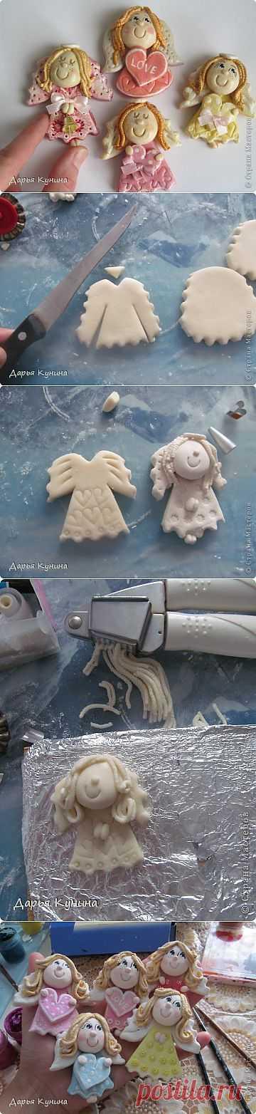 Мастер клас по лепке магнитиков-ангелочков)))   Страна Мастеров