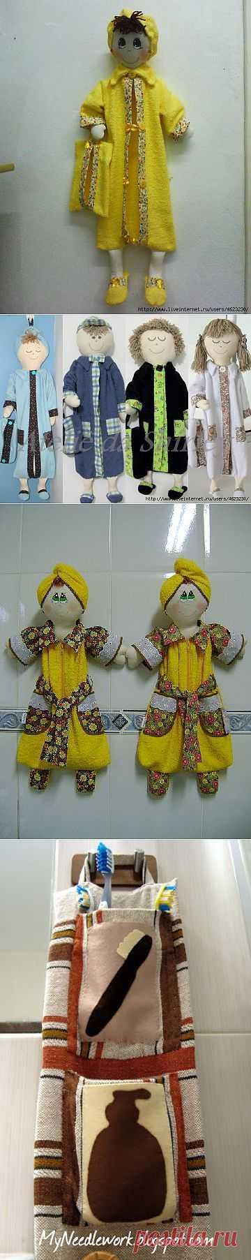Кармашки (органайзеры) для ванной комнаты..