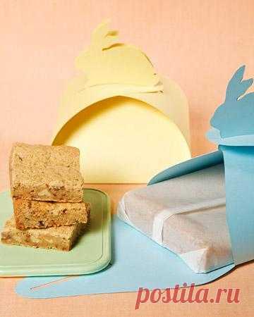 Заячья упаковка. Сделайте подарочную упаковку для вашей пасхи или печенья, которые вы испечёте, или для крашеных яичек.