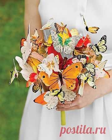 Необычный свадебный букет / Аксессуары (не украшения) / Модный сайт о стильной переделке одежды и интерьера