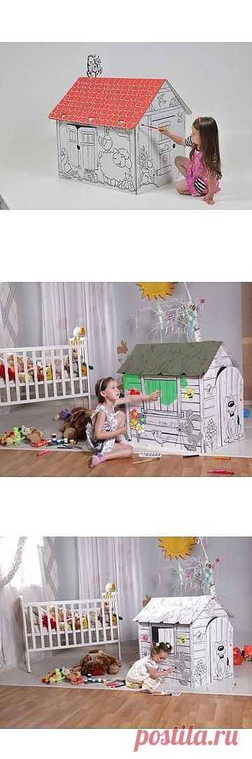 Домик из картона версия 2.0 / Для детей / Модный сайт о стильной переделке одежды и интерьера