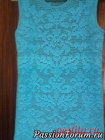 платье филейка вязание крючком постила