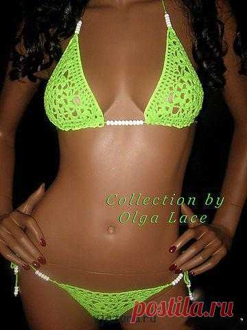 Collection of knitted design bathing suits   Вязана.ru
