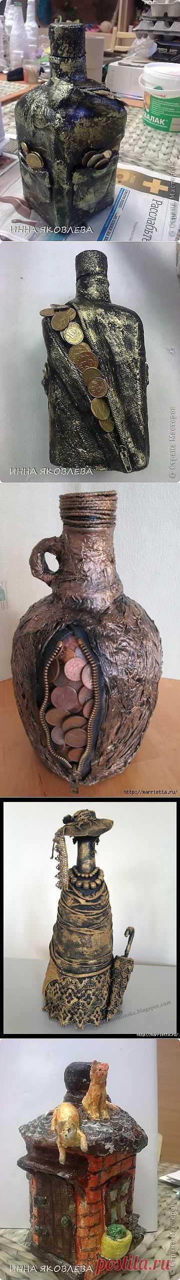 Применение гипсового бинта для создания декоративных бутылок