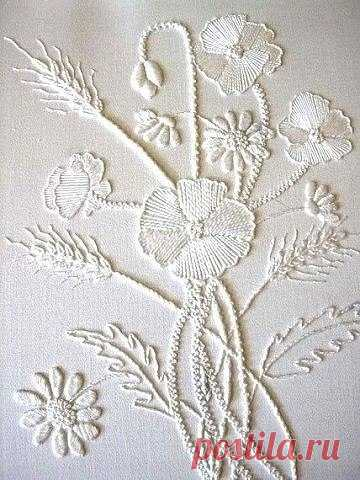 ¡Y bien, es muy hermoso! Blanco por blanco: el bordado en el estilo Mountmellick
