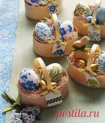 Идеи для украшения пасхальных яиц. Пасхальные яйца могут быть не только крашенными, но и декорированными, причем множеством разнообразных способов.