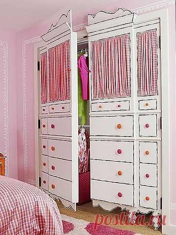 Декор двери в гардеробную / Детская комната / Модный сайт о стильной переделке одежды и интерьера