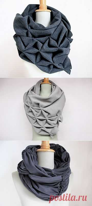 Буфы на шарфе / Шарфы / Модный сайт о стильной переделке одежды и интерьера