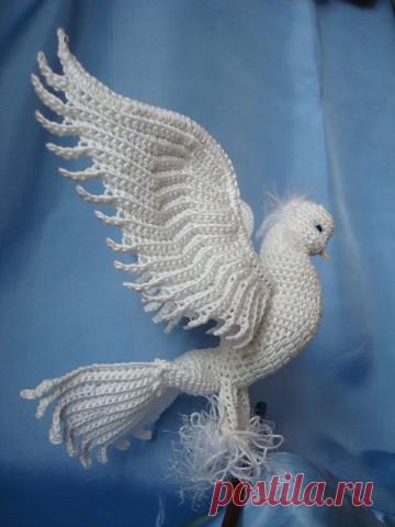 голубь королевский от тамары Ktoma вязание крючком постила