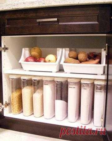 На моей идеальной кухне должен быть идеальный порядок. Говорю нет пакетам с просыпающимися крупами и мукой! Говорю да порядку на полках!