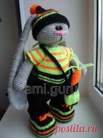 зайка в стиле тильда автор Dashajr амигуруми вязаниекрючок
