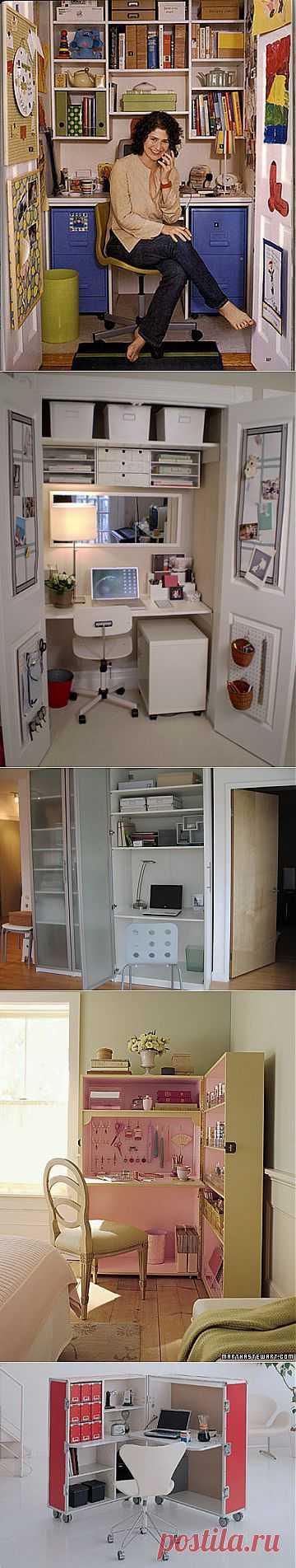 Домашний офис на 1 квадратном метре. Коллекция творческих идей .