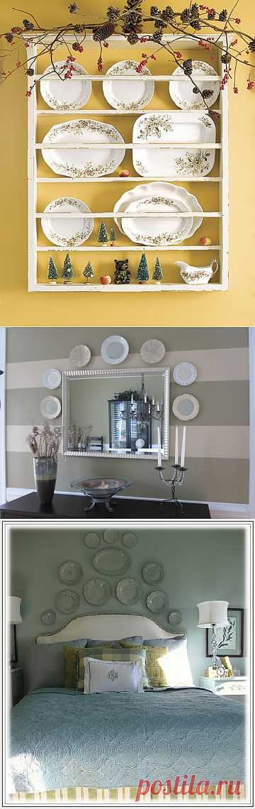 Топ 10: Декор стен тарелками