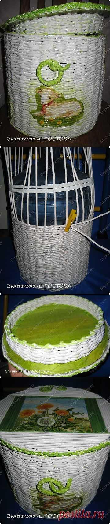 плетеная корзина +МК крышки с бортиком | Страна Мастеров